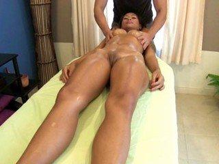 Chantana fucks masseur on top